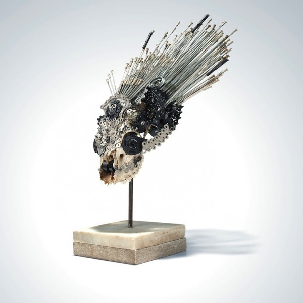 Unique Sculptures Made from Old Bike Parts