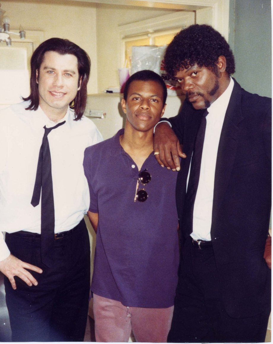 Behind the scenes on set of 'Pulp Fiction'