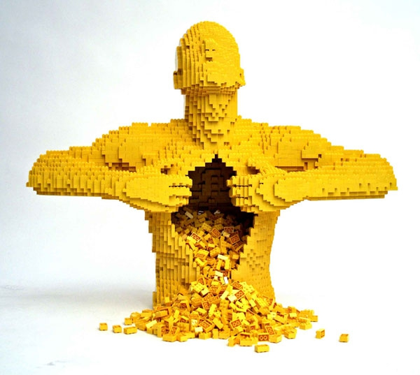 Incredible LEGO Artworks by Nathan Sawaya