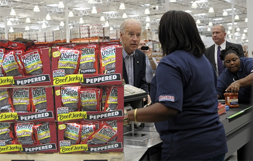 Joe Biden Goes to Costco