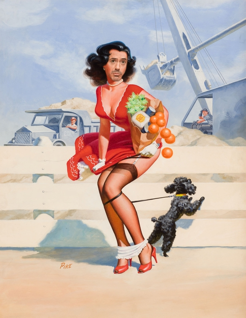 Prepare Yourself. Here's Robert Downey Jr. As A Pin-Up Girl