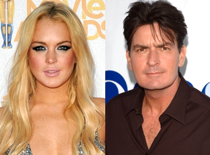 Charlie Sheen Tries to Save Lindsay Lohan