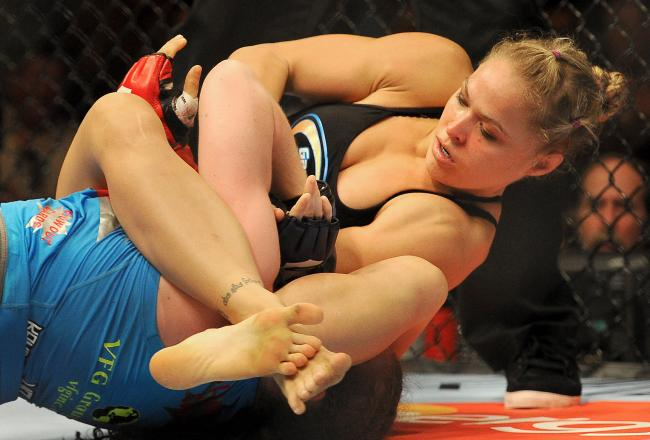 Rousey definitely has the better arm bar.
