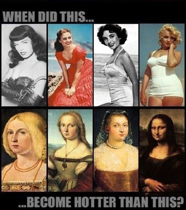 What's Hotter? (Then and Now) >Funny