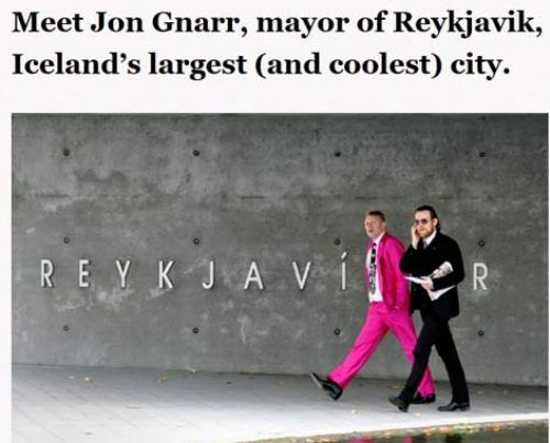 Quite possibly the coolest mayor in the world