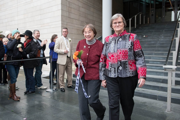 Gay Couples Celebrate Getting Married In Seattle