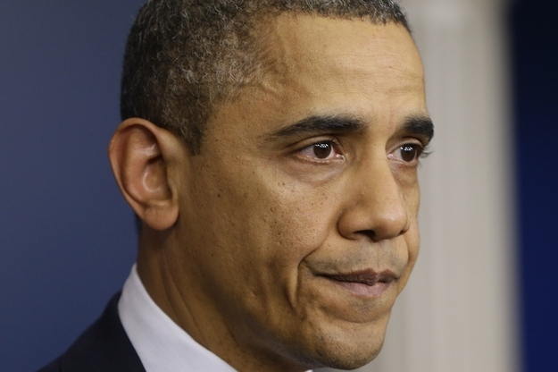 President Cries While Addressing Sandy Hook Slaughter