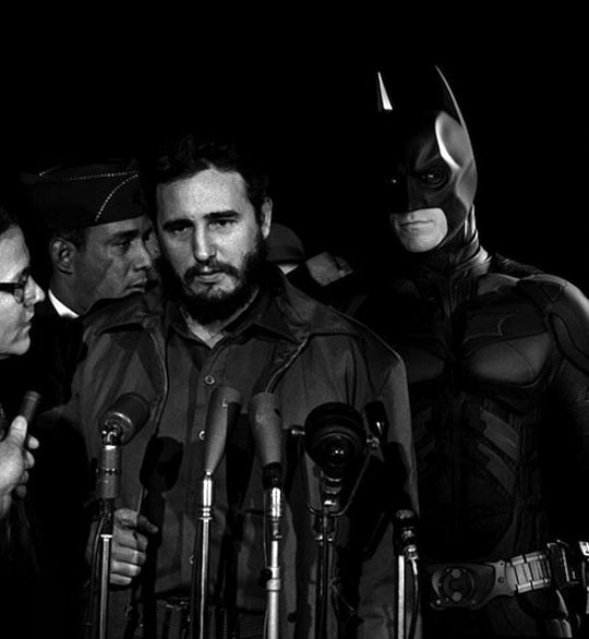 Classic Superheroes Placed Inside Old War Photographs
