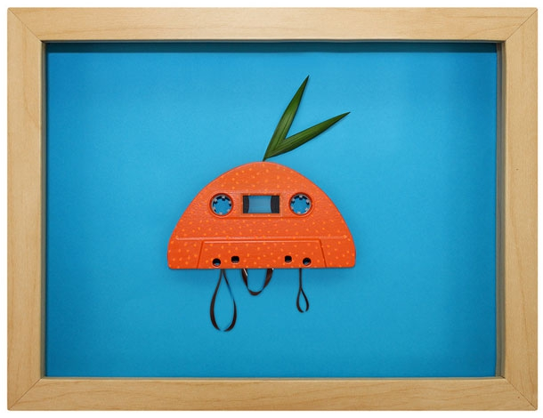 Retro Cassette Tapes made into Brilliant Pop Art