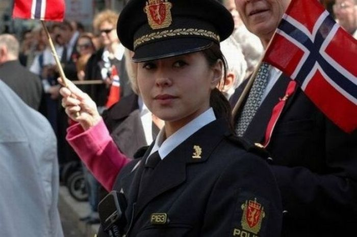 Girls in Military Uniform