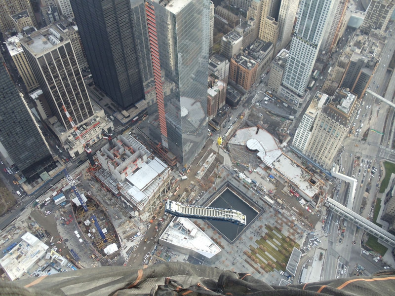 Hoisting an Escalator to the 101st Floor of 1 WTC