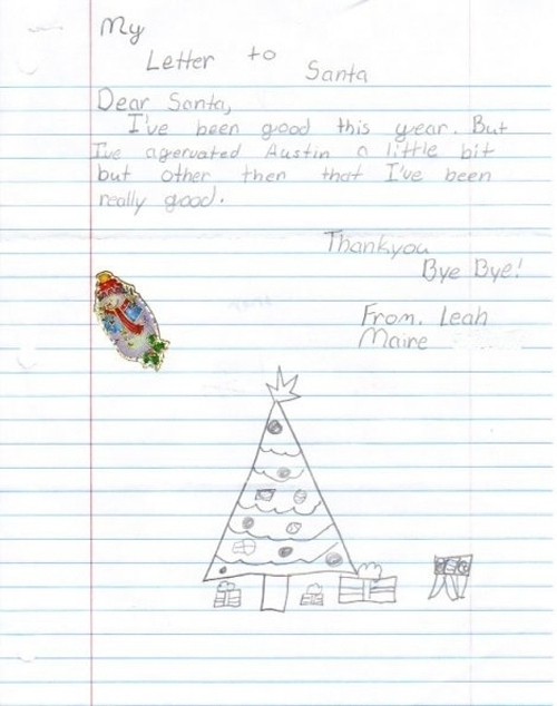 Fantastic Letters To Santa From Clever Kids