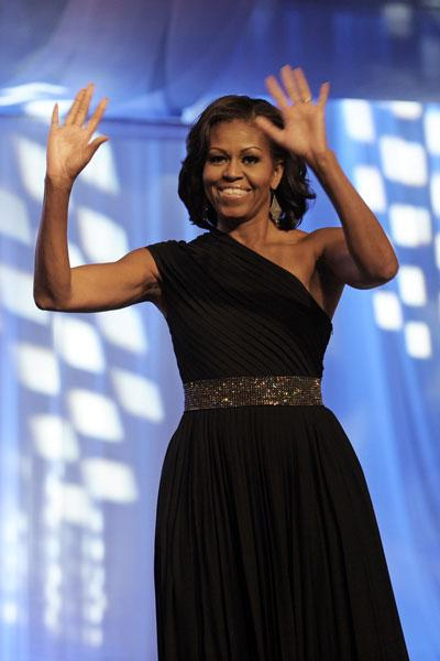 Michelle Knows How to Dress for Success