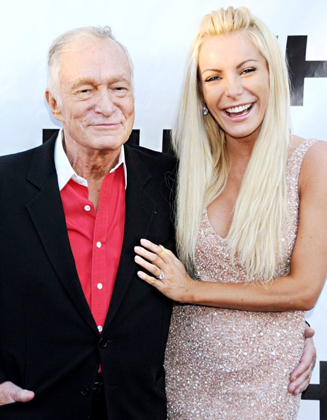 Hugh Hefner and Crystal Harris Are