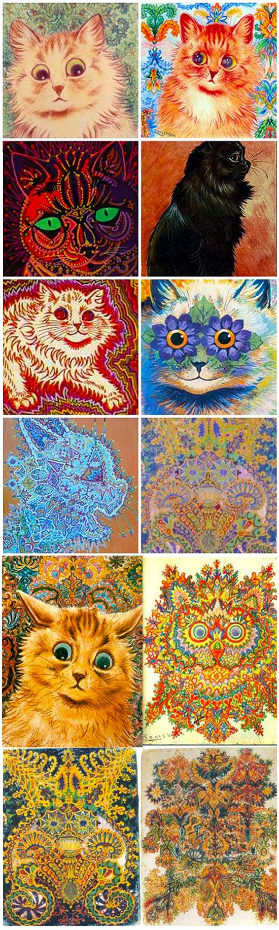 The Astounding Art Of A Schizophrenic Cat Lover