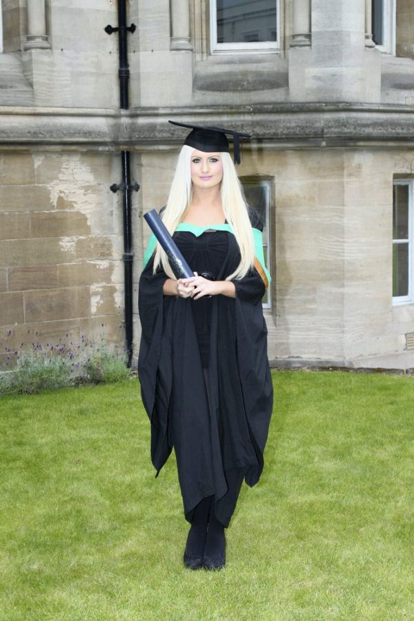 Charlotte Poole. Barbie Girl with Two University Degrees