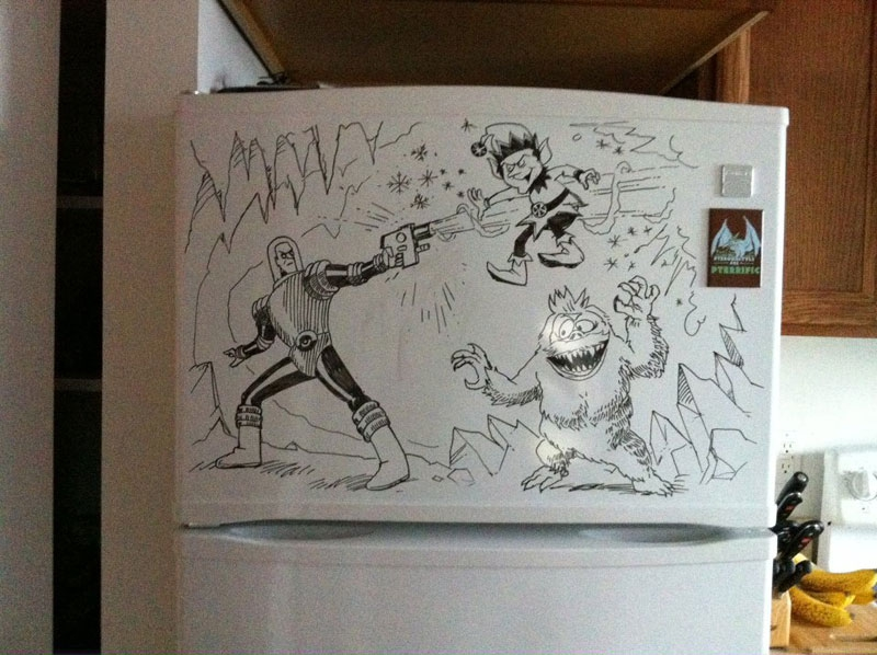 Weekly Fridge Drawings by Charlie Layton