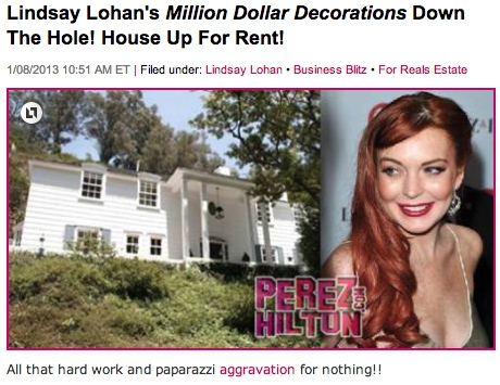 "Lindsay Lohan Cons ""Million Dollar Decorators"""