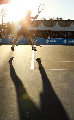 Tennis in the Raging Australian Sun