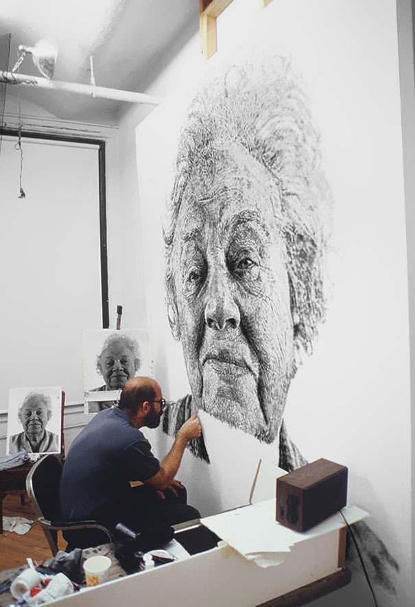 Portrait Made of Thousands of Fingerprints