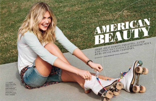 "Kate Upton Dominates France as ""America's Sweetheart"""