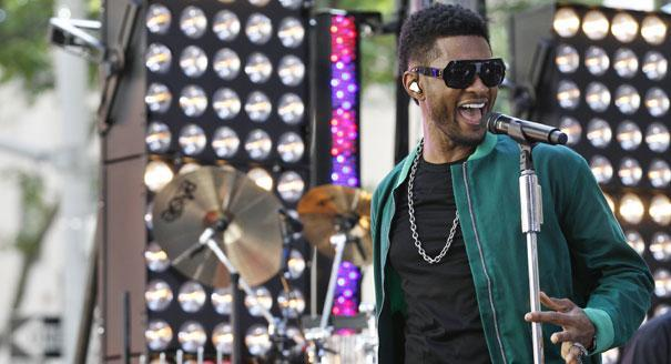 Usher is participating in the festivities
