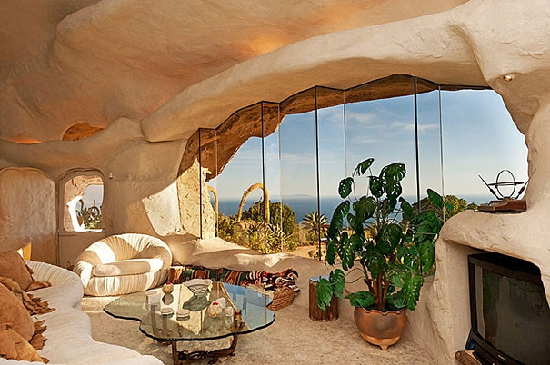 Dick Clark's Flintstones Inspired Home in Malibu