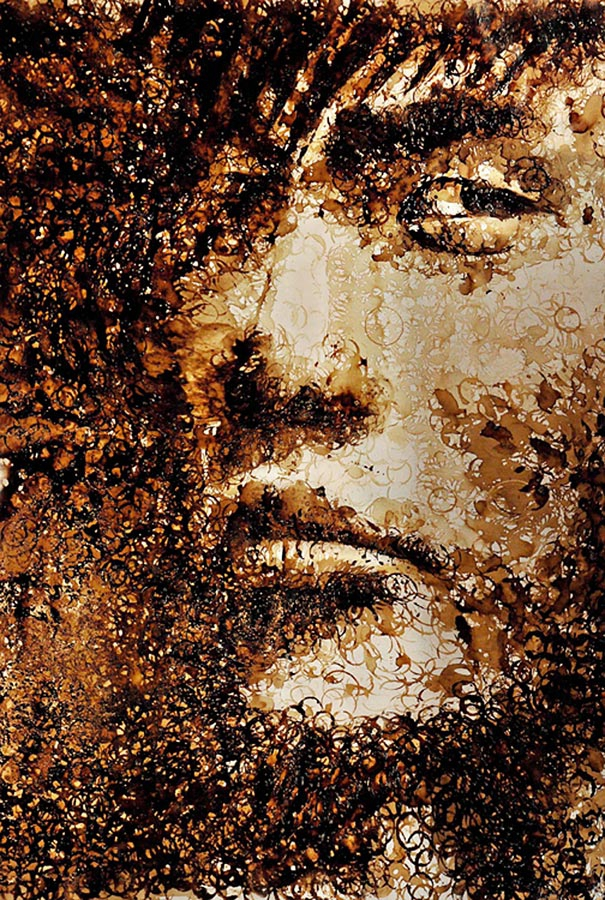 Coffee Stain Portrait by Hong Yi