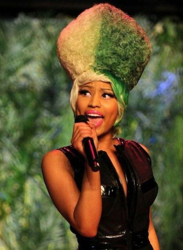 Funny Hairdos Of Nicki Minaj