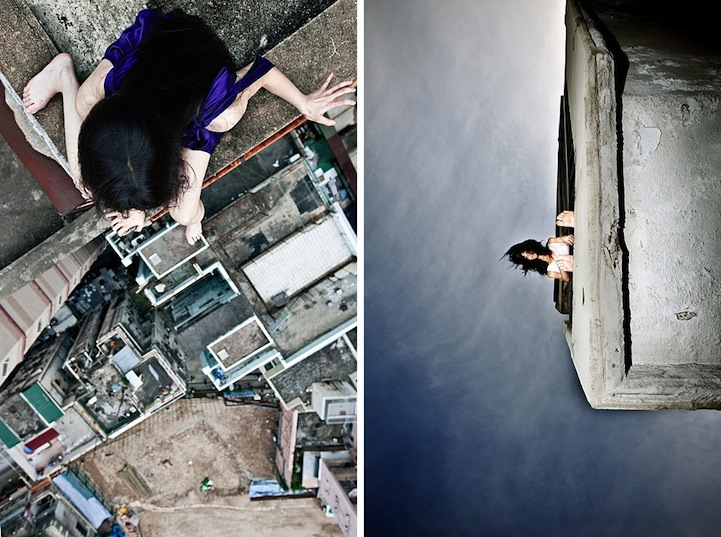 Nerve-Racking Self-Portraits of a Girl on the Edge