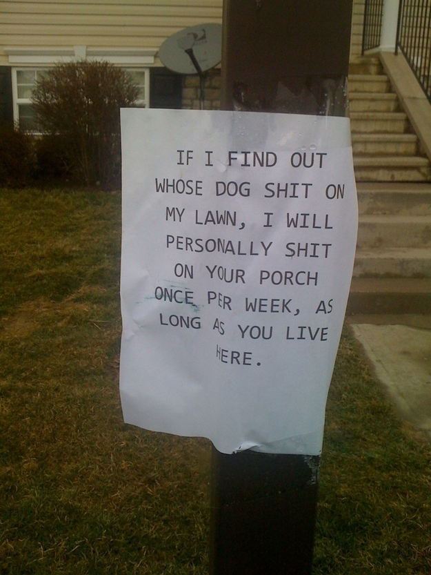 Wonderfully Passive Aggressive Neighbors