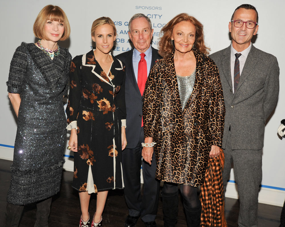 Anna Wintour (far left) partnered with other big names in fashion to bring us this spread