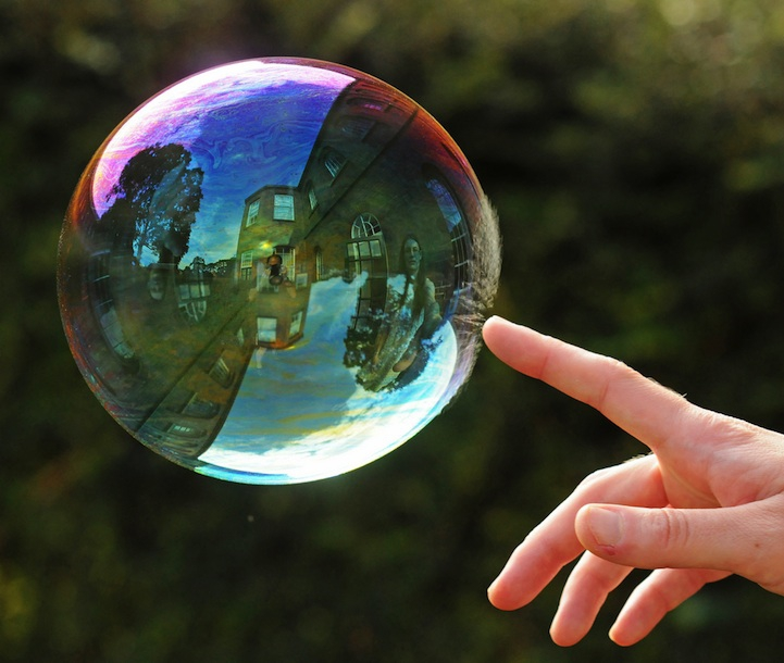 Magical Reflections on Soap Bubbles