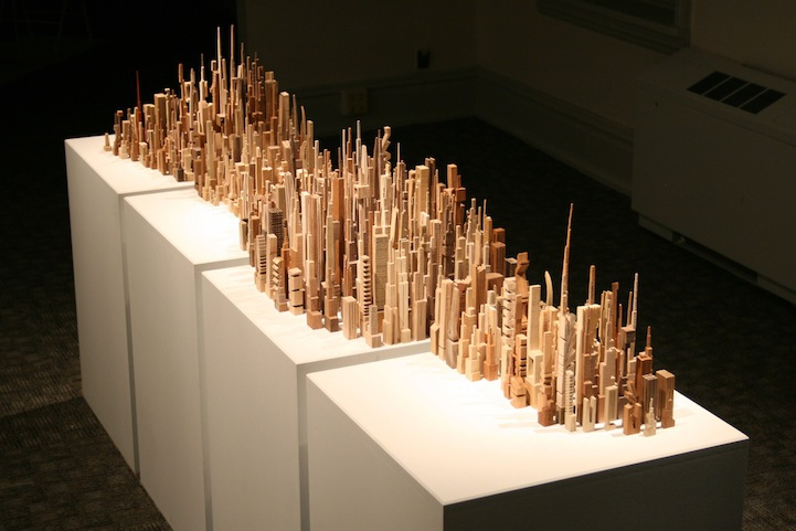 Incredible Wood-Carved Cityscapes by James McNabb