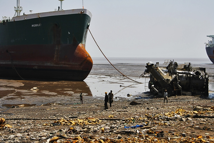 Alang. Where ships go to die