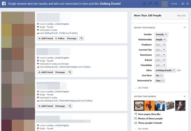 'Actual Facebook Graph Searches' Exposes Weird Facebook Habits
