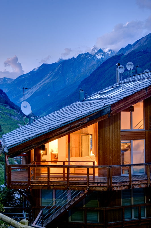 A Penthouse Chalet in the Swiss Alps