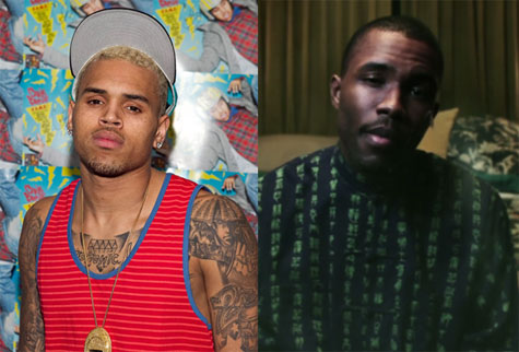 After all, Chris Brown isn't really used to picking on some one his own size