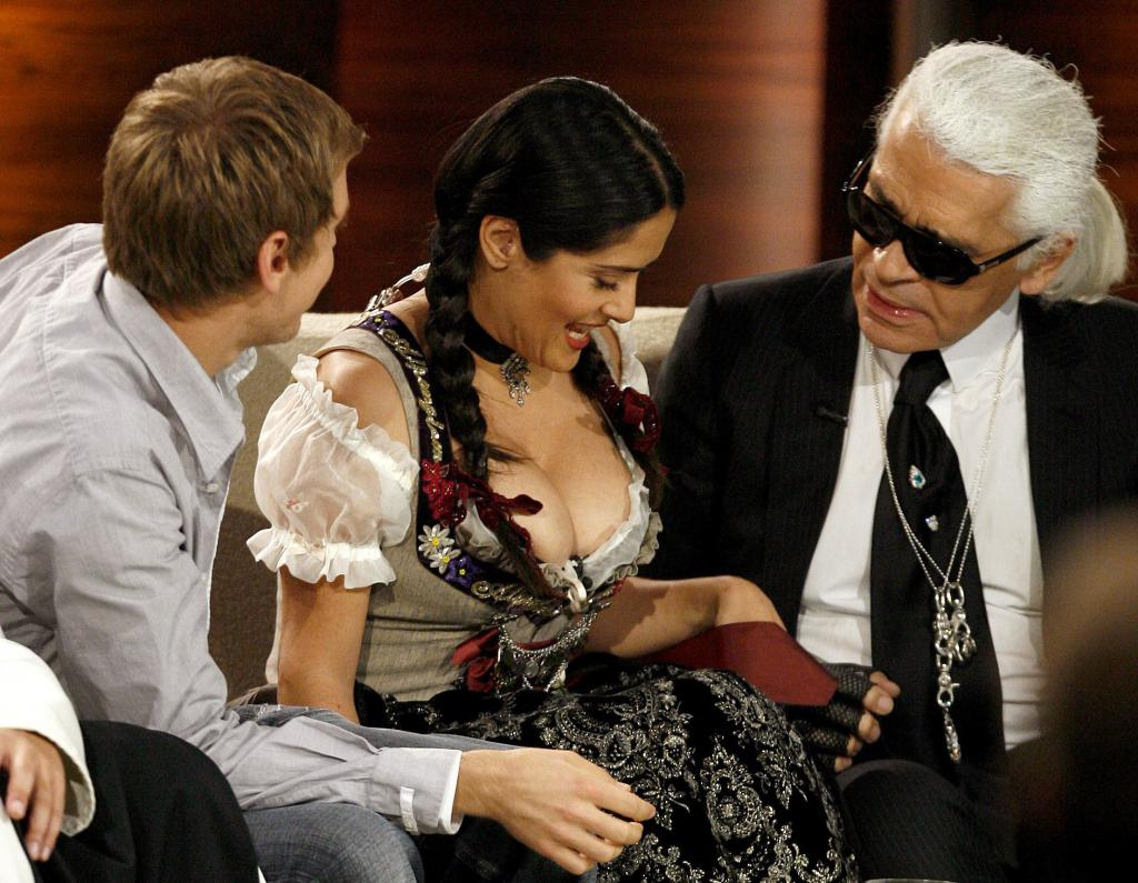 Salma Hayek on 'Wetten, Dass...?' - a German TV show meaning 'Wanna Bet?""