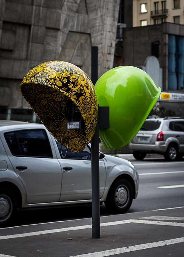 Artists Cover Brazil's Pay Phones With Their Art