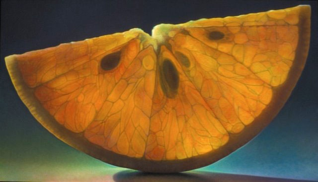 Translucent Fruit Paintings by Dennis Wojtkiewicz