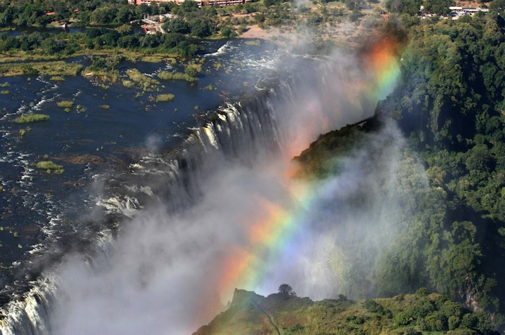 Breathtaking Rainbows Over the World's Largest Waterfall