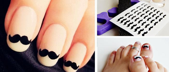 Hipster Nails for Girls Who Love 'Staches