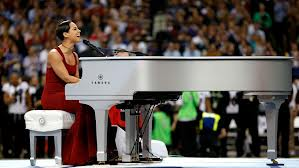 Alicia Keys Sang the National Anthem.