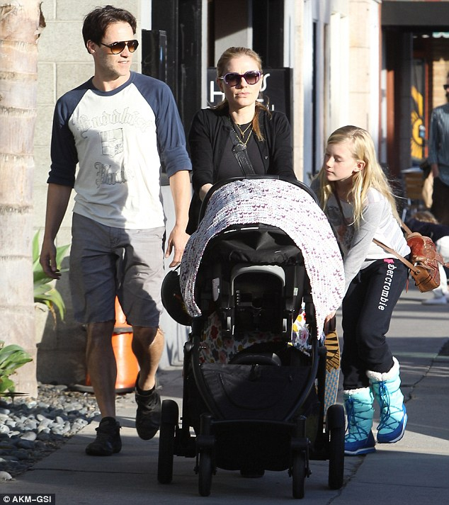 Anna Paquin's walk with children