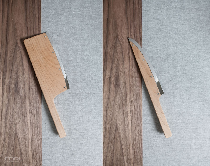 Kitchen Knives Made from Maple Wood