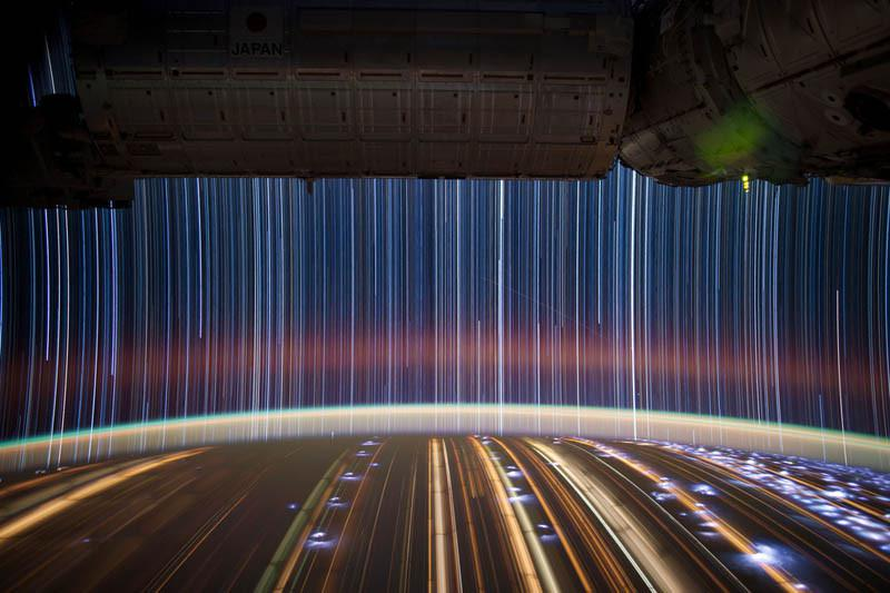 Star Trails, City Trails: Long Exposure Images from Space от Marinara за 05 feb 2013