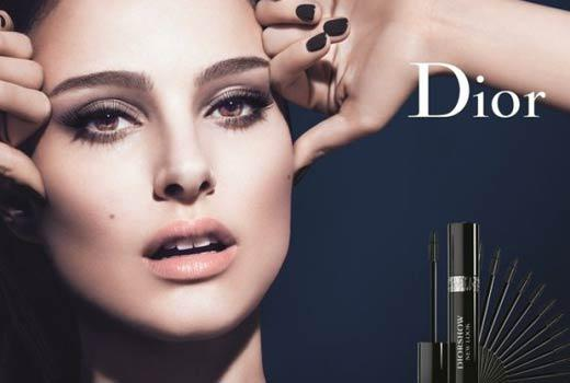 natalie portman miss dior eyebrows