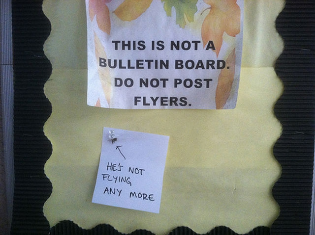 Witty Responses to Annoying Note Leavers