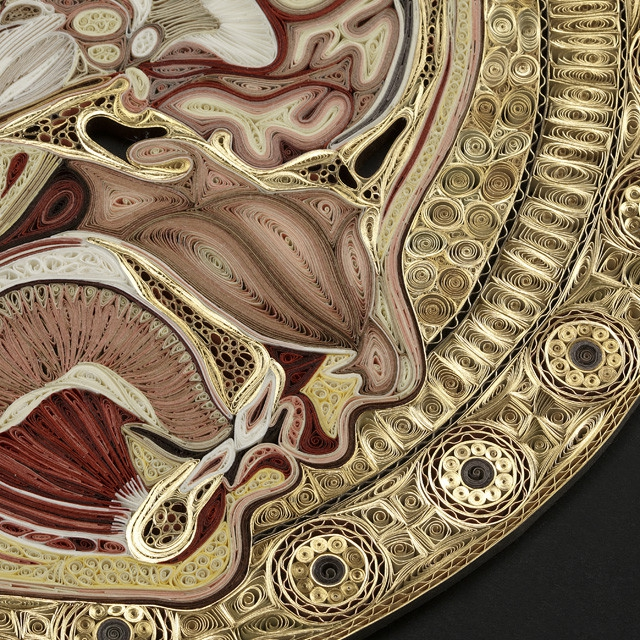 Anatomical Paper Filigree Art by Lisa Nilsson